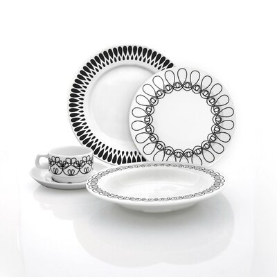 notNeutral Ribbon 20 Piece Dinnerware Set