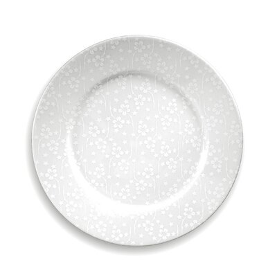notNeutral White on White Flora Dinner Plate Set