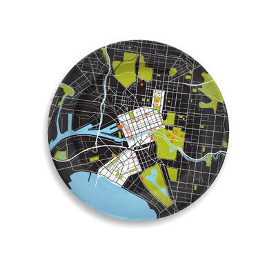 "notNeutral City on a Plate 12"" Melbourne Dinner Plate"