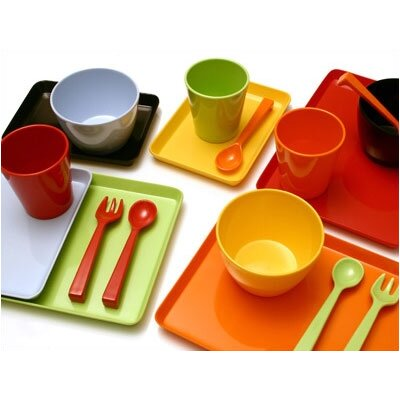 notNeutral Melamine Snack Set in Blue/Green