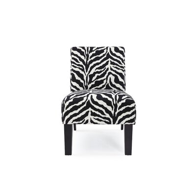 Deco Zebra Fabric Slipper Chair