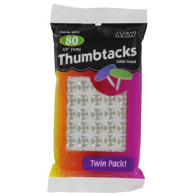 "A&W 0.37"" Thumbtack (80 Count)"
