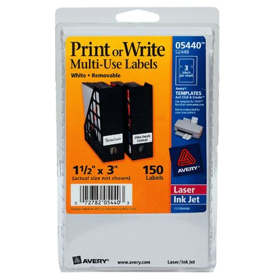 """Avery 3"""" Print Or Write Label"""