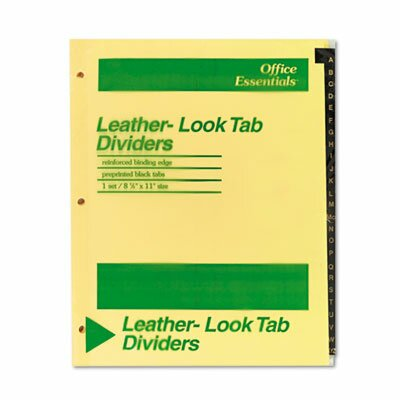 Avery Office Essentials Printed Tab Index Divider Set (Set of 26)