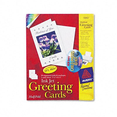 Avery Personal Creations Printable Half-Fold Cards, 20/Box