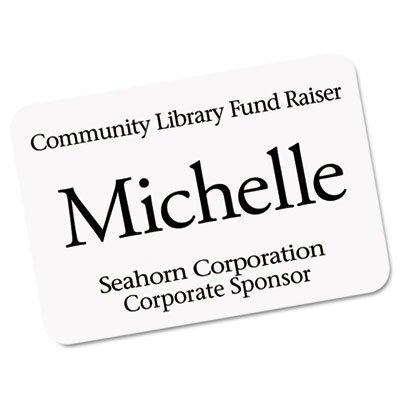 Avery Ecofriendly Name Badge Labels, 400/Box