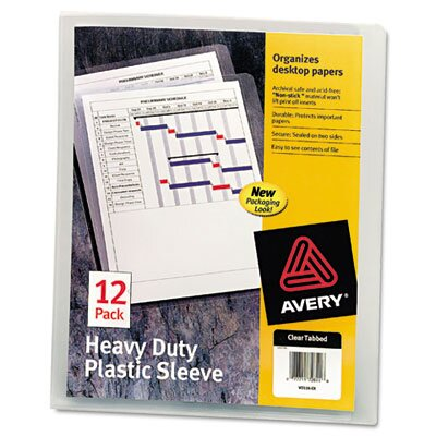 Avery Plastic Sleeves, 12/Pack