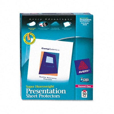 Avery Top-Load Sheet Protector, 50/Box