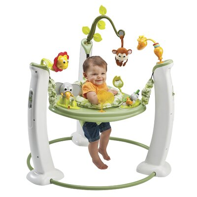 Evenflo ExerSaucer Jump and Learn Stationary Safari Friends Bouncer