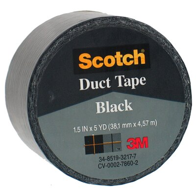 "Bussman 1.5"" X 5 Yards Black Scotch® Duct Tape 1005-BLK-1P"