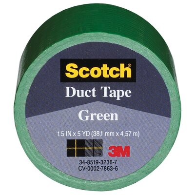 "Bussman 1.5"" X 5 Yards Green Tape Cloth 1005-GRN-1P"