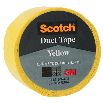 "Bussman 1.5"" X 5 Yards Yellow Scotch® Duct Tape 1005-YLW-1P"