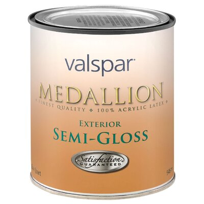 Valspar 1 Quart Custom White Medallion Exterior Latex House & Trim Paint S