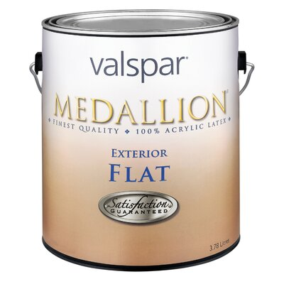 Valspar 1 Quart Flat White Medallion Exterior Latex House Paint