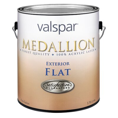 Valspar 1 Gallon Flat White Medallion Exterior Latex House Paint