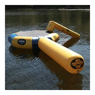 Rave Sports Bongo Water Bounce Platform-13' with Slide and Log