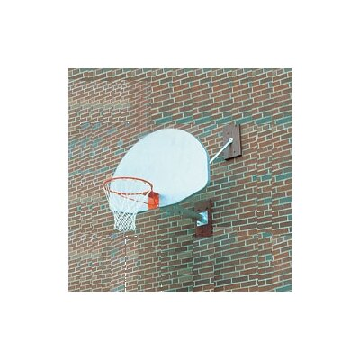SportsPlay Wall Mounted Basketball Backstop w/ Over Hang