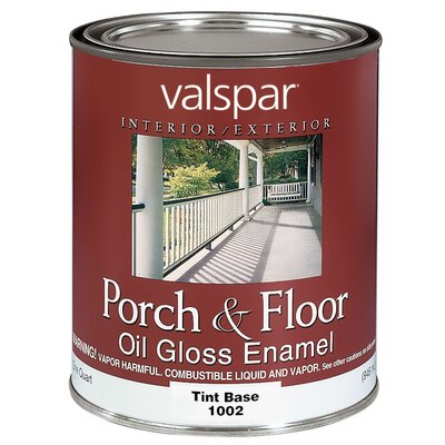 Valspar 1 Quart Tint Base Porch & Floor Oil Enamel Paint 27-1002 QT