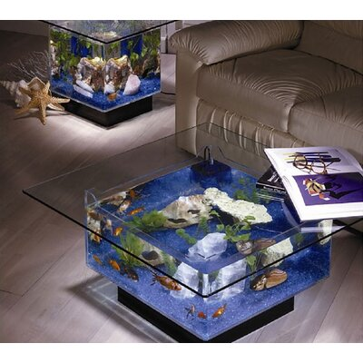 Midwest Tropical Fountain Aqua Coffee Table