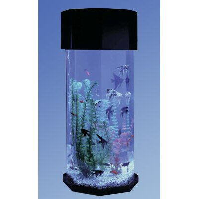Midwest Tropical Fountain AquaScape 10 Gallon Octagon Aquarium with optional Octagon Stand