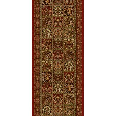 Concord Global Imports Oriental Classics Panel Red Rug