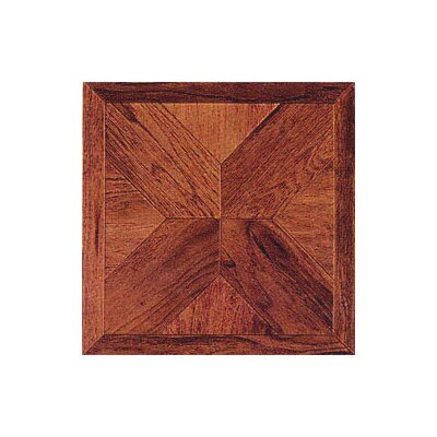 "Home Dynamix 12"" x 12"" Vinyl Tile in Machine Cherry Wood Cross"