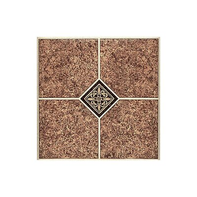 "Home Dynamix 12"" x 12"" Vinyl Tile in Marble Traditional"
