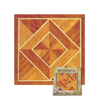 "Home Dynamix 12"" x 12"" Vinyl Tile in Light / Dark Wood Diamond"