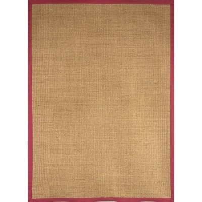 Sisal Red Border Rug