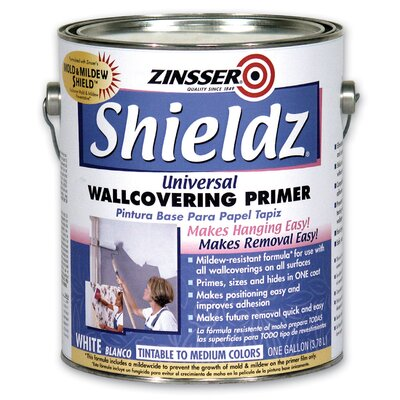 Zinsser 1 Gallon White Shieldz® Universal Wallcovering Primer 02501