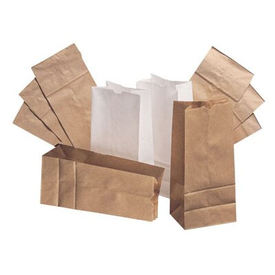 General 2 Paper Bag in White with 500 Per Bundle