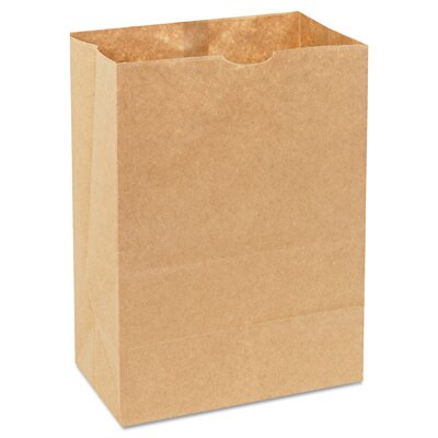 General Natural Grocery Sack Squat Paper Bag in Brown
