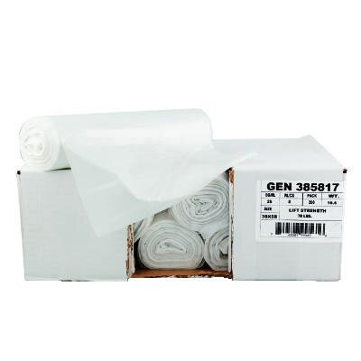 "General 43"" x 46"" High-Density Can Liner in Clear"