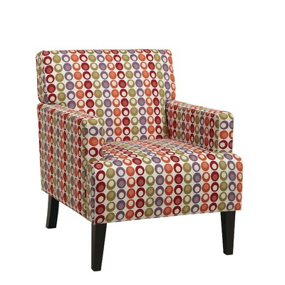 Ave Six Carrington Fabric Arm Chair