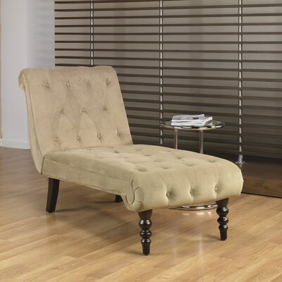 Ave Six Curves Velvet Chaise Lounge