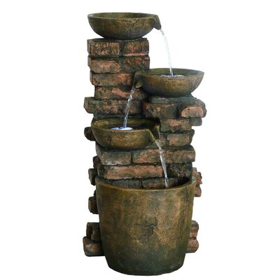 3 Tiered Antique Bowl Fountain