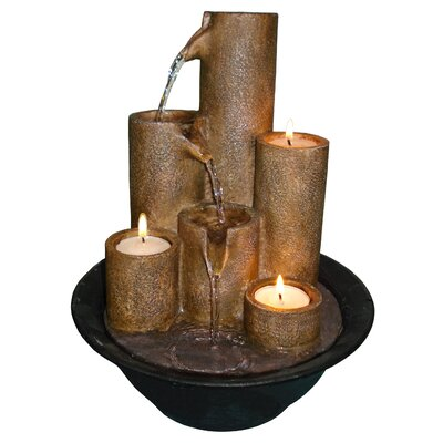 Eternity Three Candle Tabletop Fountain