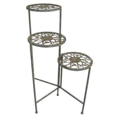 3 tier plant stand wayfair - Tiered metal plant stand ...