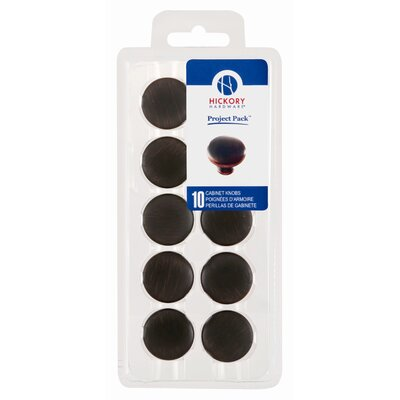 "HickoryHardware Project Pack 1.13"" Metropolis Cabinet Knob (Pack of 10)"
