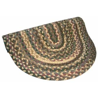 Thorndike Mills Beacon Hill Tan/Green/Mauve Multi Round Rug