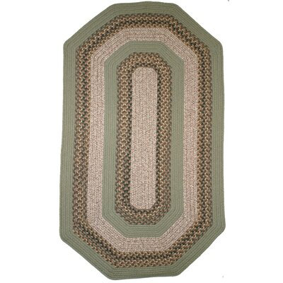 Beantown Boston Garden Green Multi Elongated Octagon Rug