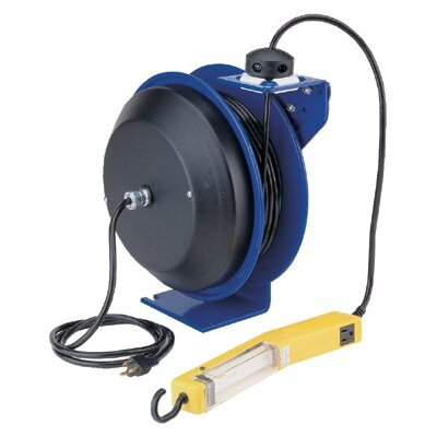 Coxreels Coxreels - Pc13 Series Power Cord Reels 50' 16 Ga Pc Reel  Dualfl Angle Light  Tool Tap: 170-Pc13-5016-D2 - 50' 16 ga pc reel  dualfl angle light  tool tap