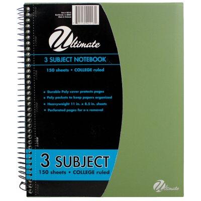 "ItsAcademic 11"" x 8.5"" 3-Subject Notebook"