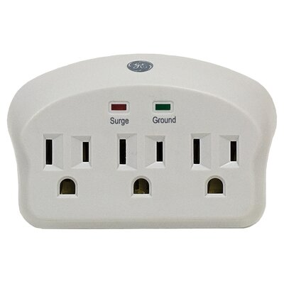 Jasco 3-Outlet 660 Joules in Wall Surge Protector