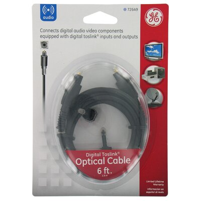 Jasco 6' Digital Optical Cable