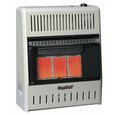 World Marketing 18,000 BTU Infrared Wall Natural Gas Space Heater with Thermostat