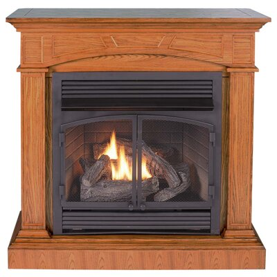 KozyWorld Hertiage II Dual Fuel Four-in-One Vent Free Gas Fireplace