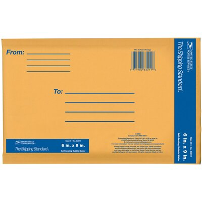 """Lepages 6"""" x 9"""" Kraft Manila USPS Padded Mailer"""