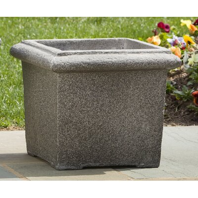 Square Rolled Rim Planter