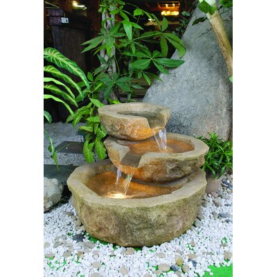 Alfresco Home ValGardena Outdoor Resin Tiered Fountain